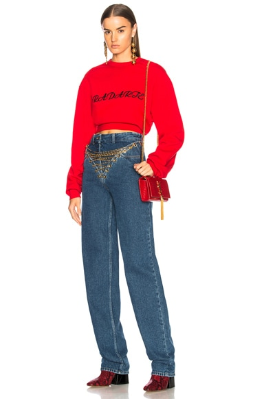 Radarte LA Embroidery Cropped Sweatshirt