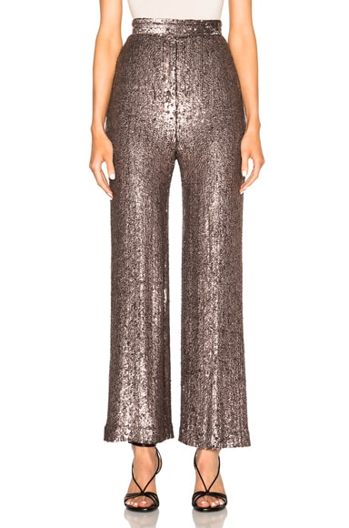 Rodarte Hand Beaded Cropped Pants in Lavender