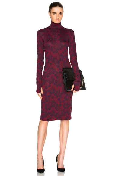 Rodebjer Shark Fitted Dress in Navy & Wine