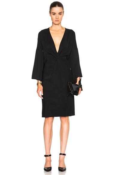 Rosetta Getty Kimono Twist Dress in Black