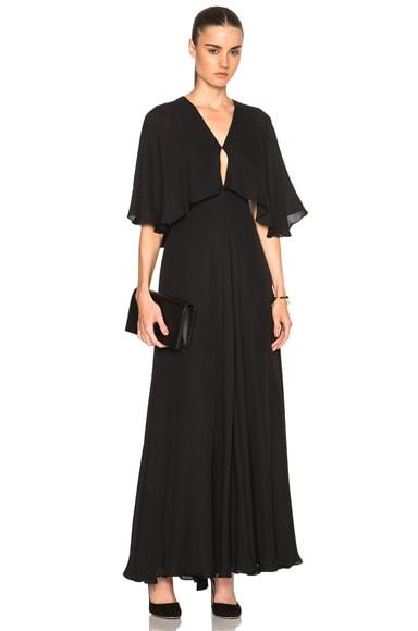 Rosetta Getty Silk Double Georgette Gown in Black