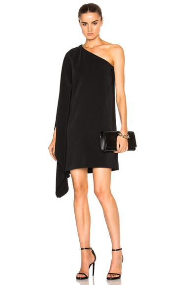 One Shoulder Scarf Dress
