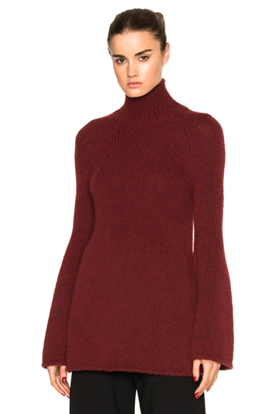Rosetta Getty Bell Sleeve Sweater in Bordeaux