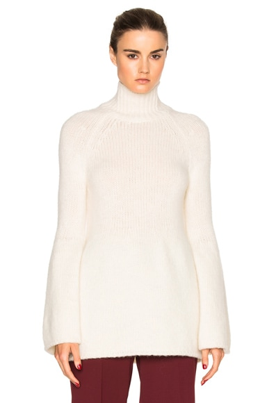 Rosetta Getty Bell Sleeve Sweater in White