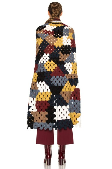 Patchwork Crochet Poncho