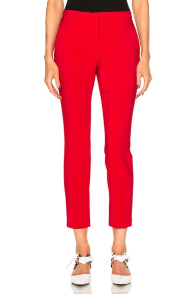 Stretch Cady Cropped Skinny Trousers