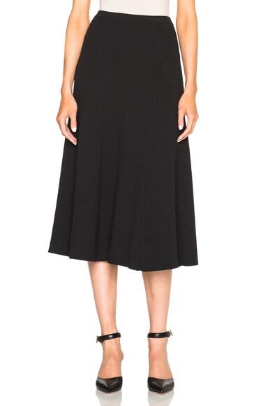 Rosetta Getty Ribbed Flare Skirt in Black