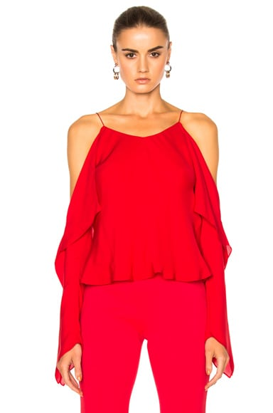 Silk Double Georgette Off The Shoulder Camisole