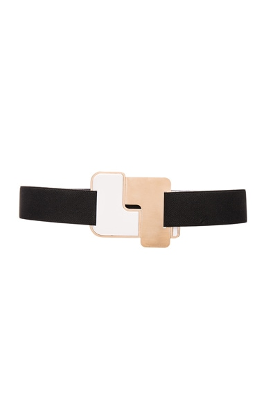 Roksanda Bryony Belt in GBlack, Gold & White