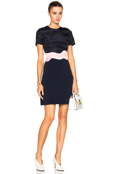 Roksanda Aublin Dress in Navy & Lavender