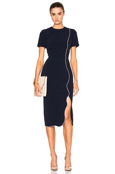 Roksanda Sabra Dress in Navy & Lavender