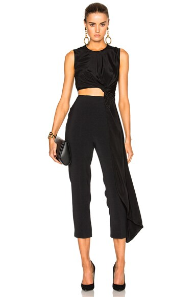 Roksanda Cady & Crepe Moroccan Thurloe Jumpsuit in Black