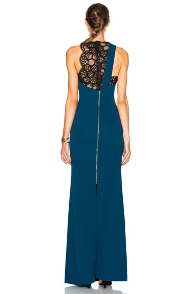 Tolson Hexagonal Embroidered Lace Gown