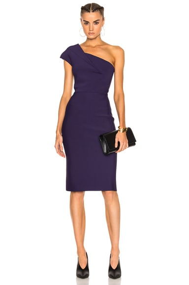 Brattle Double Faced Viscose Knit Midi Dress