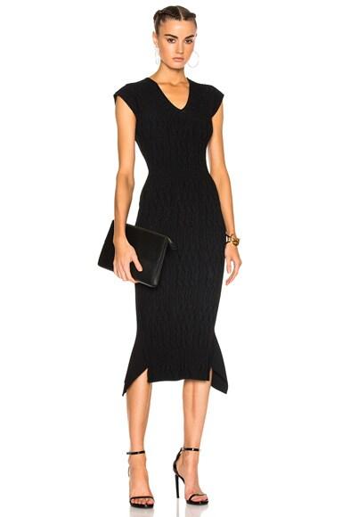 Stockcross Wave Rib Viscose Knit Dress