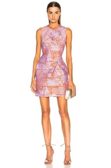 Foxley Printed Striped Organza Dress