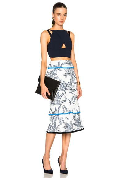 Vivian Palm Fils Coupe Skirt