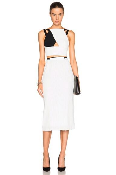 Exton Rippled Chiffon & Stretch Viscose Skirt