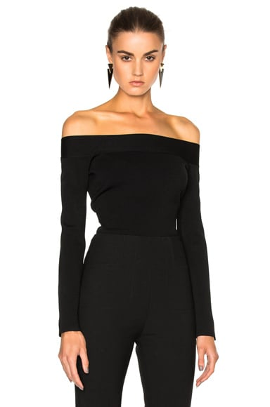 Roland Mouret Tasso Knit Top in Black