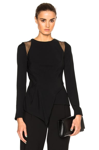 Ebner Stretch Crepe & Layered Lace Top