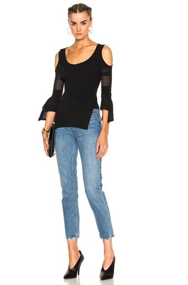 Burford Patchwork Lace Viscose Open Shoulder Top