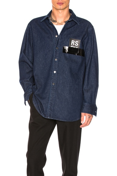 Denim Shirt in Navy