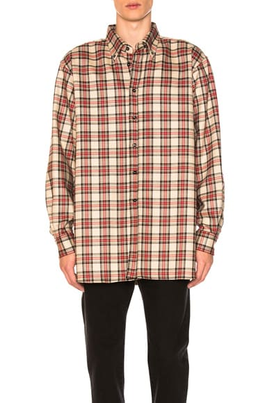 Slightly Oversized Plaid Shirt