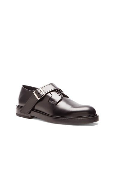 Raf Simons Thick Sole Buckle Strap Shoe in Black