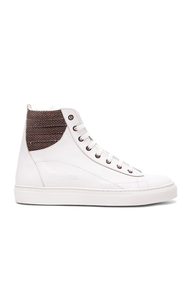 Leather Lace Up Eyelets Sneakers