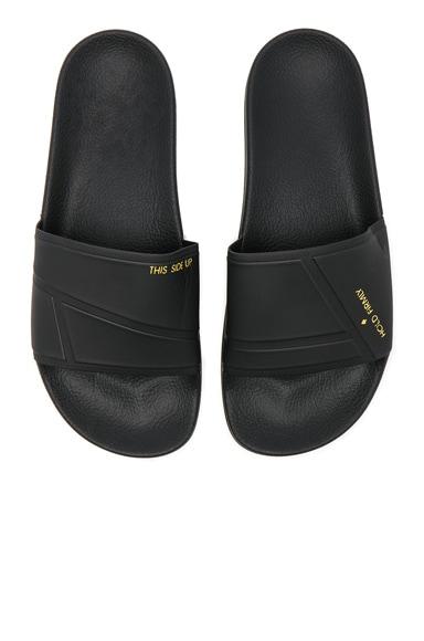 Raf Simons x Adidas Bunny Adilette in Core Black