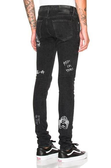RtA Printed Jeans in Ash Print