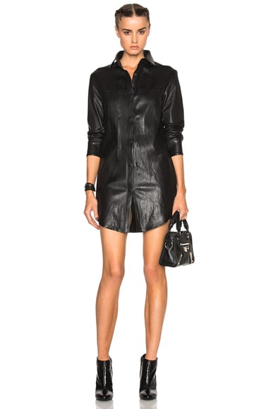 Genevieve Leather Dress