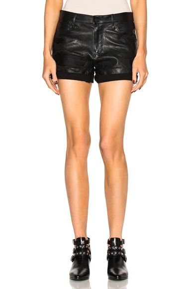 RtA Olivia Shorts in Raven Destroy