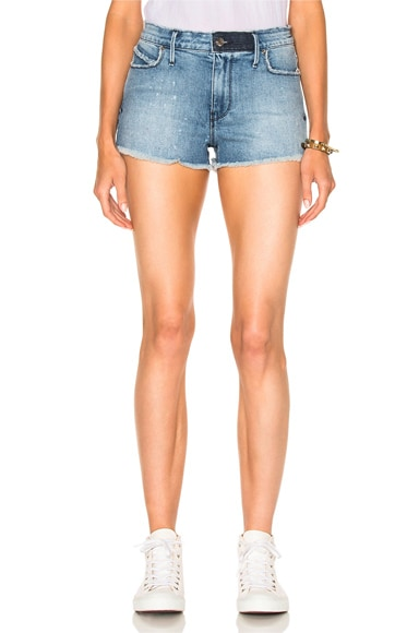 RtA Olivia High Waist Short in Blue Collar