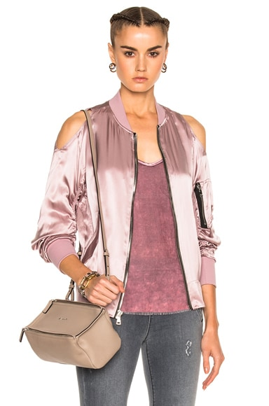 RtA Jester Bomber Jacket in Rose