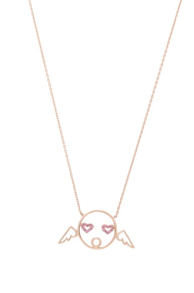Ruifier Cupid Pendant Necklace in 18k Rose Gold