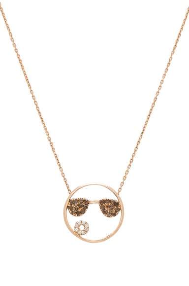 Ruifier 9 Karat Shades Necklace in Rose Gold