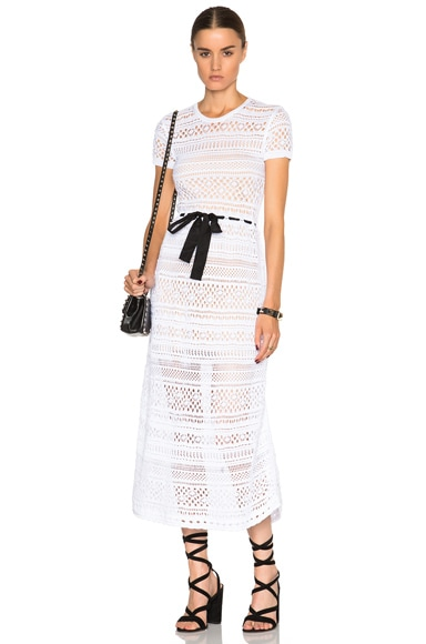 Red Valentino Crochet Maxi Dress in White