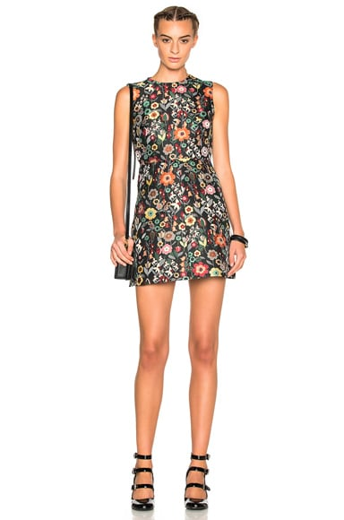 Printed Fit & Flare Mini Dress