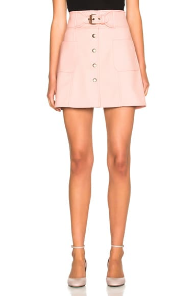 Red Valentino Belted Mini Skirt in Phard