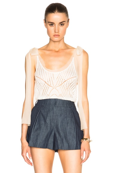 Red Valentino Crochet Knit Top in Ivory