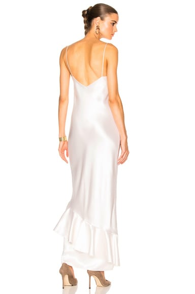 Ryan Roche Slip Dress in White