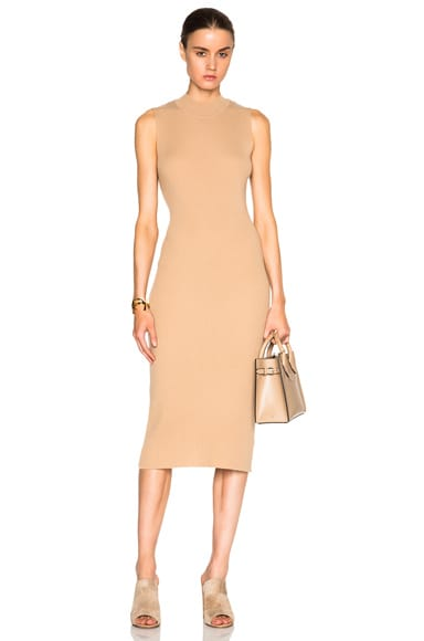Ryan Roche Cashmere Dress in Camel