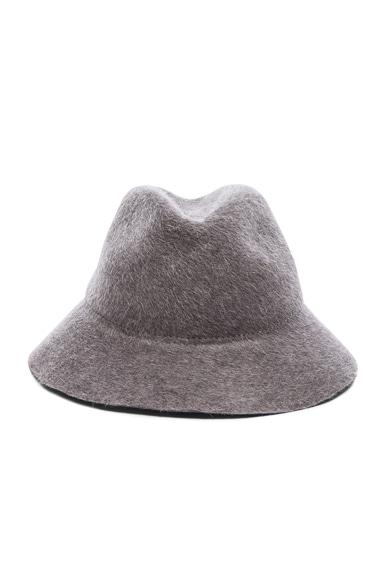 Ryan Roche Fur Felt Hat in Heather Grey