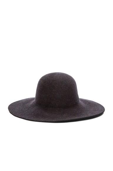 Ryan Roche Fur Felt Floppy Hat in Black