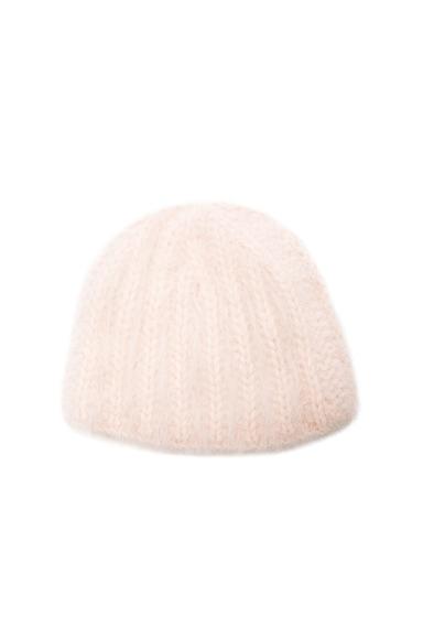 Ryan Roche Cashmere Beanie in Pale Pink