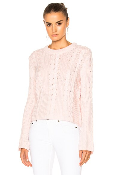 Ryan Roche FWRD Exclusive Knit Sweater in Champagne Pink