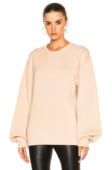 Ryan Roche Big Long Sleeve Sweater in Bare