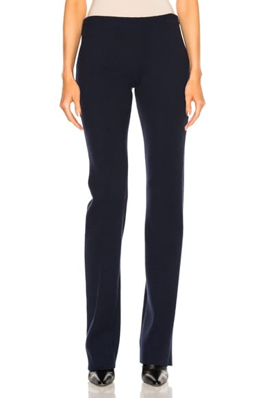 Ryan Roche Wide Leg Trouser in Black & Navy