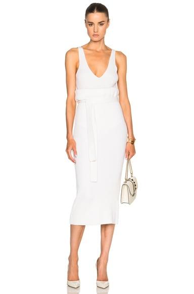 Belted Cashmere Skirt